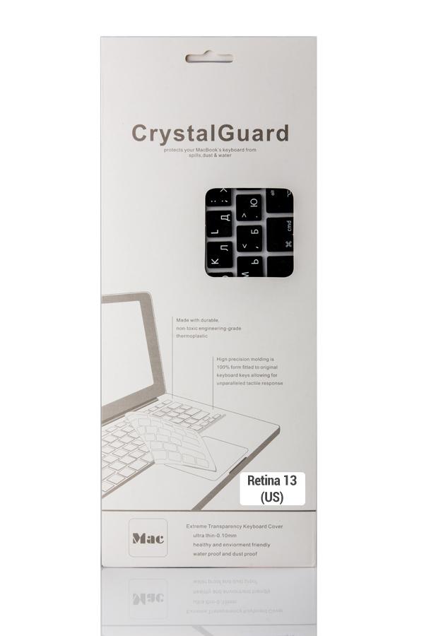 Аксессуар BTA CrystalGuard (US) Black BTA-13-1328 Накладка на клавиатуру для ноутбука MacBook Retina 13<br>