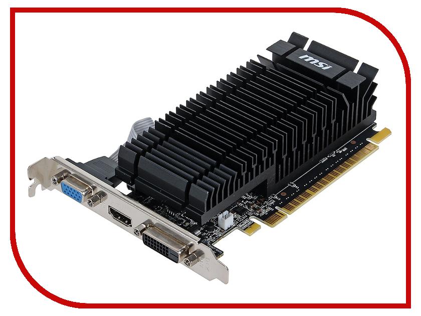 Видеокарта MSI GeForce GT 610 810Mhz PCI-E 2.0 1024Mb 1000Mhz 64 bit DVI HDMI HDCP Silent N610-1GD3H/LPV1<br>