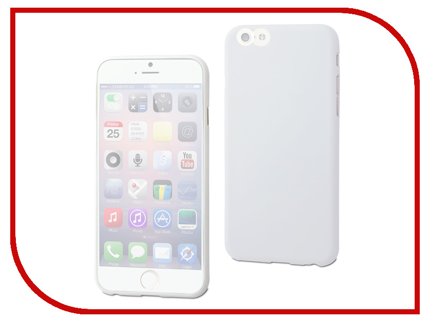 Аксессуар Чехол Muvit Thingel Case для iPhone 6 White MUSKI0322