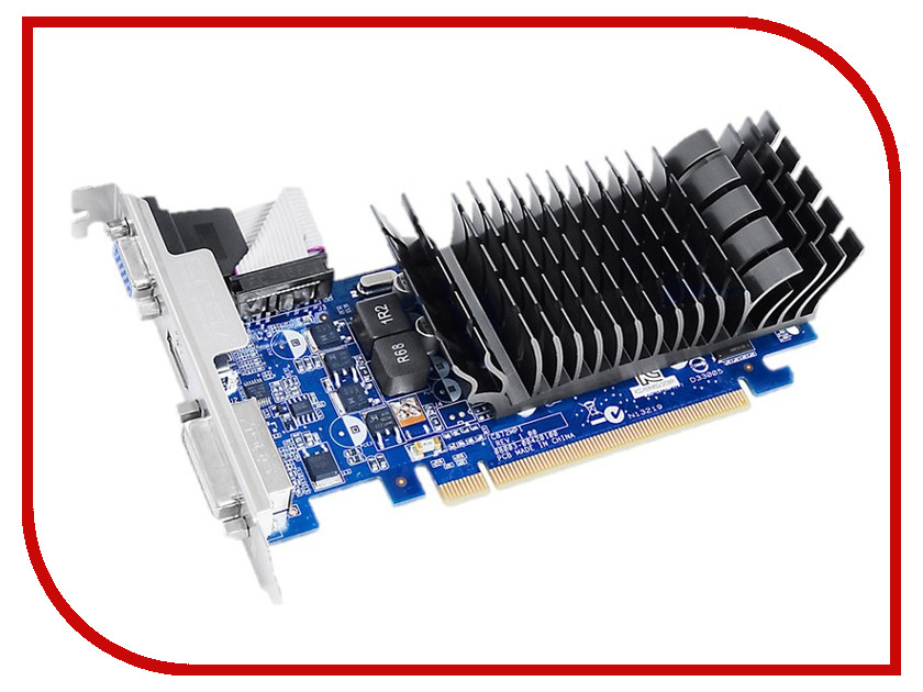 Видеокарта ASUS GeForce 210 589Mhz PCI-E 2.0 1024Mb 1200Mhz 64 bit DVI HDMI HDCP Silent 210-SL-1GD3-BRK<br>