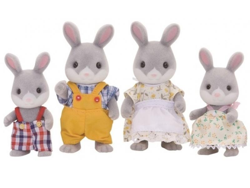 Игрушка Sylvanian Families Семья Серых Кроликов 4030 игровые наборы sylvanian families игровой набор семья серых кроликов