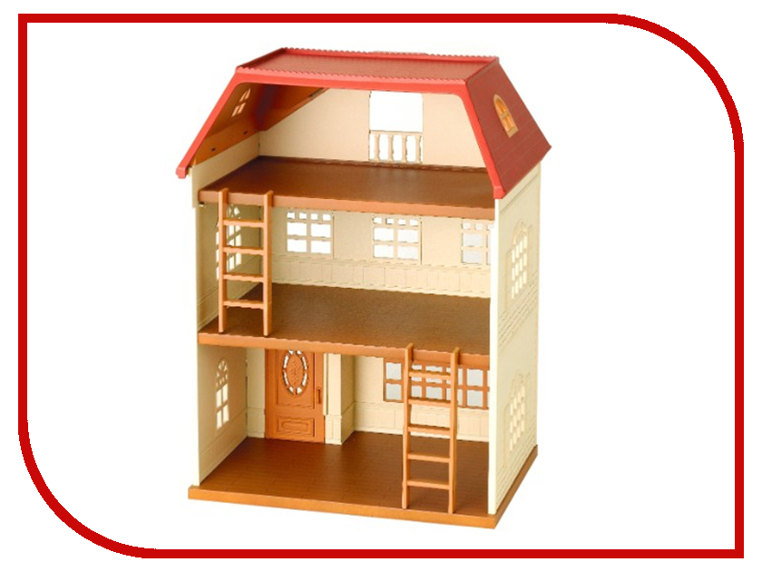 Кукольный домик Sylvanian Families Трехэтажный дерево дом sylvanian families