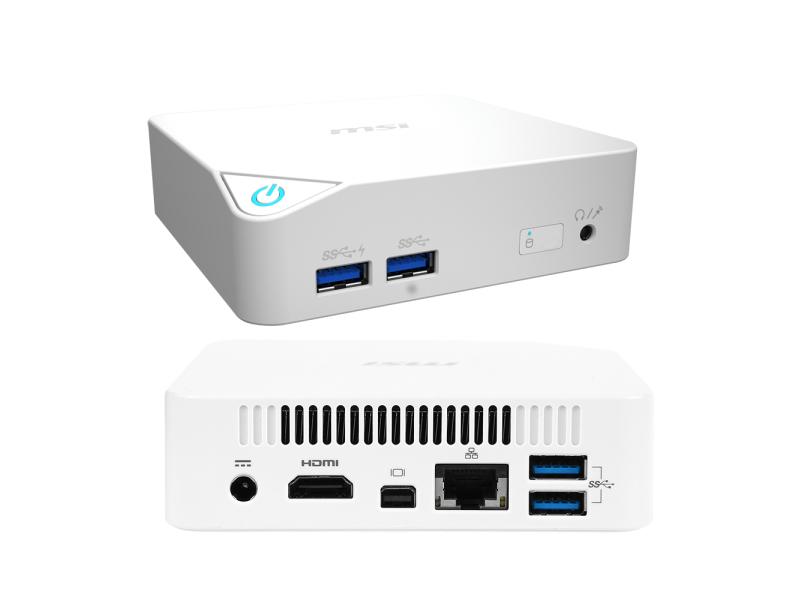 Неттоп MSI Cubi-021XRU White 9S6-B09612-021 (Intel Celeron 3205U 1.5 GHz/2048Mb/128Gb SSD/Intel GMA/Wi-Fi/No OS)