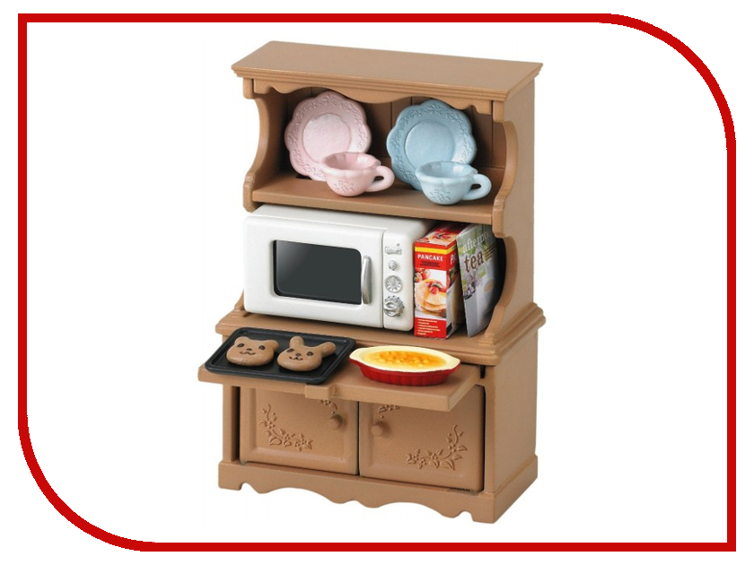 Игра Sylvanian Families Буфет с микроволновой печью 3561 sylvanian families холодильник с продуктами