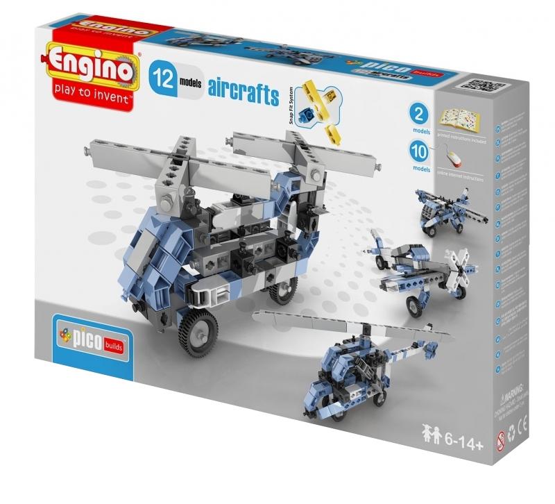 Конструктор Engino Pico Builds Самолеты 12 моделей из одного комплекта PB33