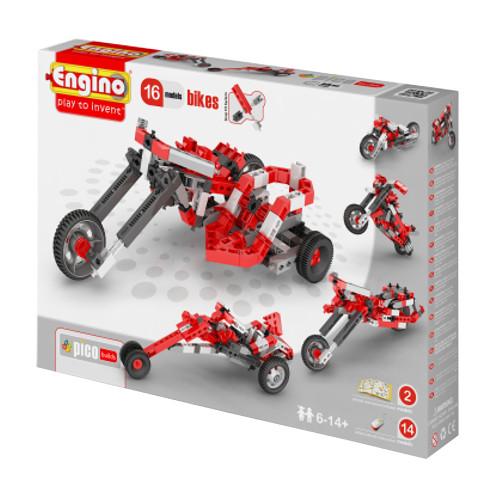 Конструктор Engino Pico Builds Мотоциклы 16 моделей из одного<br>