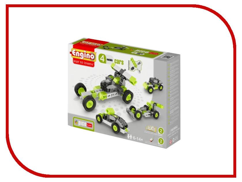 Конструктор Engino Pico Builds Автомобили 4 моделей из одного комплекта PB11 конструкторы engino алекс приключения во времени открывая автомобили