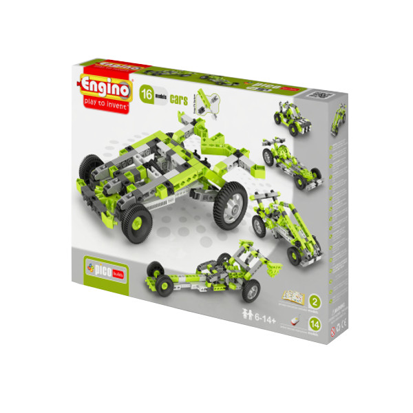 Конструктор Engino Pico Builds Автомобили 16 моделей из одного<br>