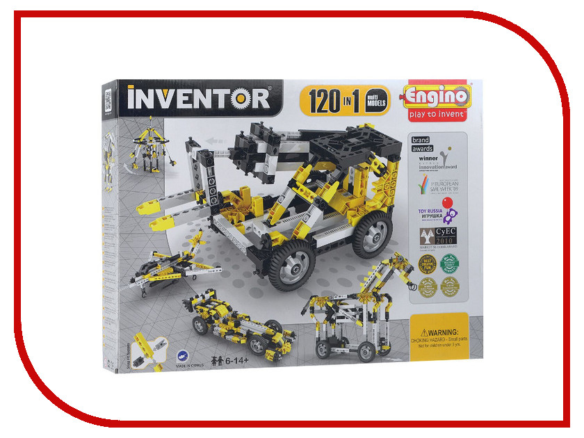 Конструктор ENGINO Inventor Special Edition 12030 120 моделей с двигателем engino конструктор inventor приключения 170 элементов