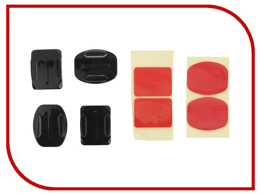 Аксессуар Набор креплений и клейких лент Fujimi GP BRK-005 для GoPro аксессуар fujimi gp brk 005 для gopro набор креплений и клейких лент