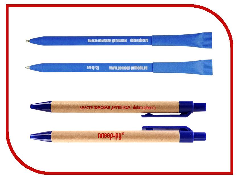 Благое дело Ручка экологическая =ВМЕСТЕ ПОМОЖЕМ ДЕТИШКАМ= Синяя