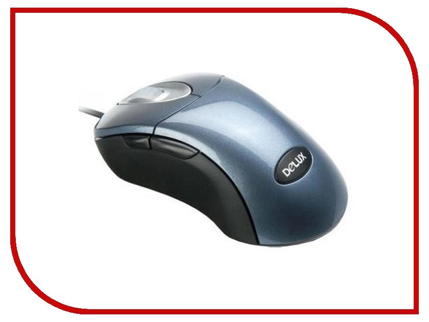 Мышь проводная Delux DLM-500 USB+PS/2 Blue<br>