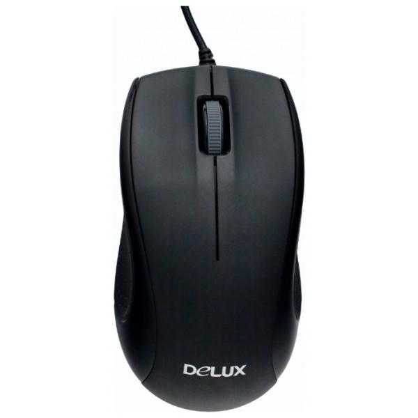 Мышь проводная Delux M-375P PS/2 Black