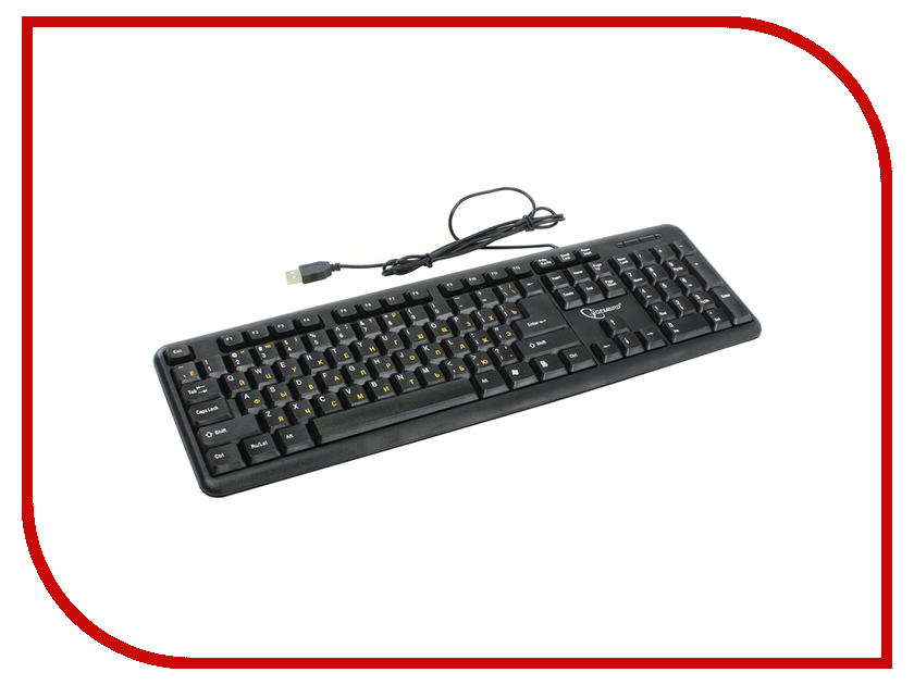 Клавиатура Gembird KB-8320U-RU Lat-BL Black USB<br>