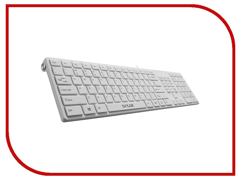 Клавиатура Delux DLK-1000UW / K1000 Ultra-Slim USB White