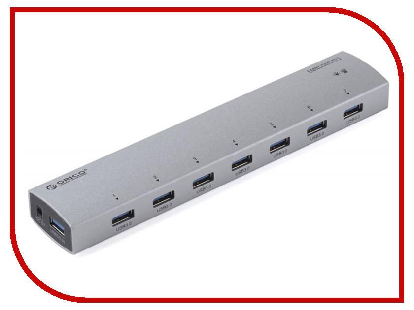 Хаб USB Orico AS7P-U3-SV 7-Ports Silver<br>