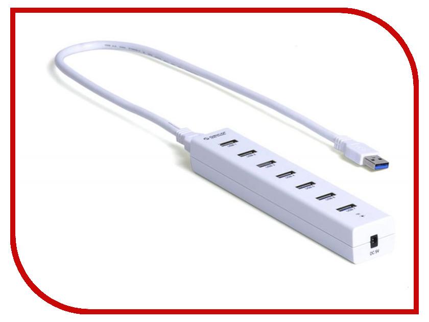 Хаб USB Orico H7013-U3-WH 7-Ports White<br>