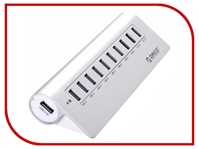 Хаб USB Orico M3H73P-SV 10-Ports Silver кабели orico кабель microusb orico adc 10