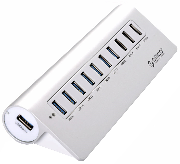 Хаб USB Orico M3H73P-SV 10-Ports Silver