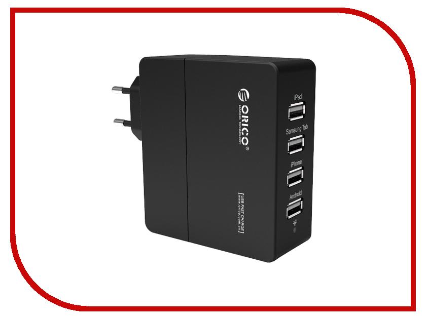 Зарядное устройство Orico DCA-4U-BK Black<br>