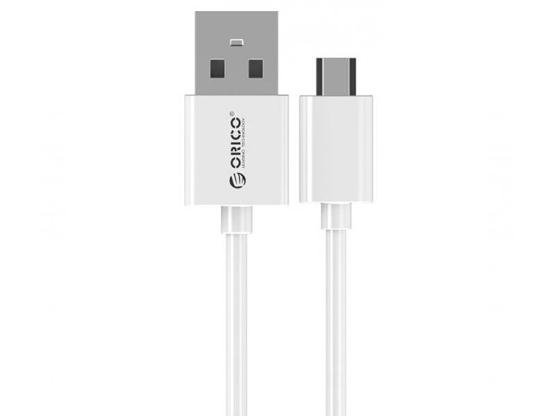 Фото - Аксессуар Orico USB to MicroUSB 0.5m ADC-05-WH White orico 25uts sata to usb 3 0 2 5 inch hard drive adapter cable