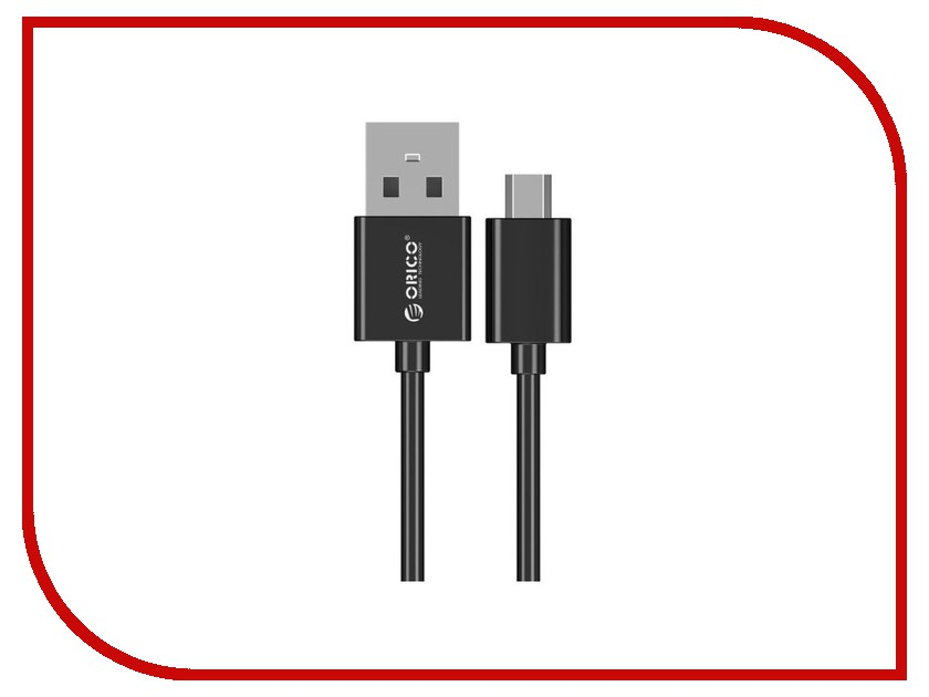 Аксессуар Orico USB to MicroUSB 0.8m ADC-08-BK Black аксессуар orico phe 25 bk black