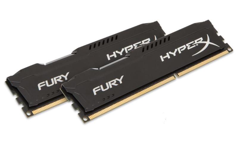Модуль памяти Kingston HyperX Fury Black PC4-17000 DIMM DDR4 2133MHz CL14 - 8Gb KIT (2x4Gb) HX421C14FBK2/8<br>