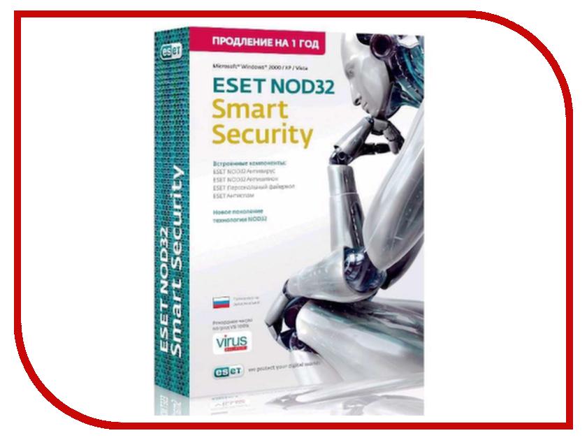 Программное обеспечение ESET NOD32 Smart Security - продление лицензии на 1 год на 1ПК NOD32-ESS-RN-BOX-1-1