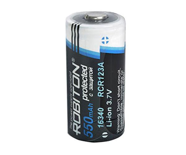 Аккумулятор 16340 - Robiton Li16340 550 mAh с защитой 12224 BL2