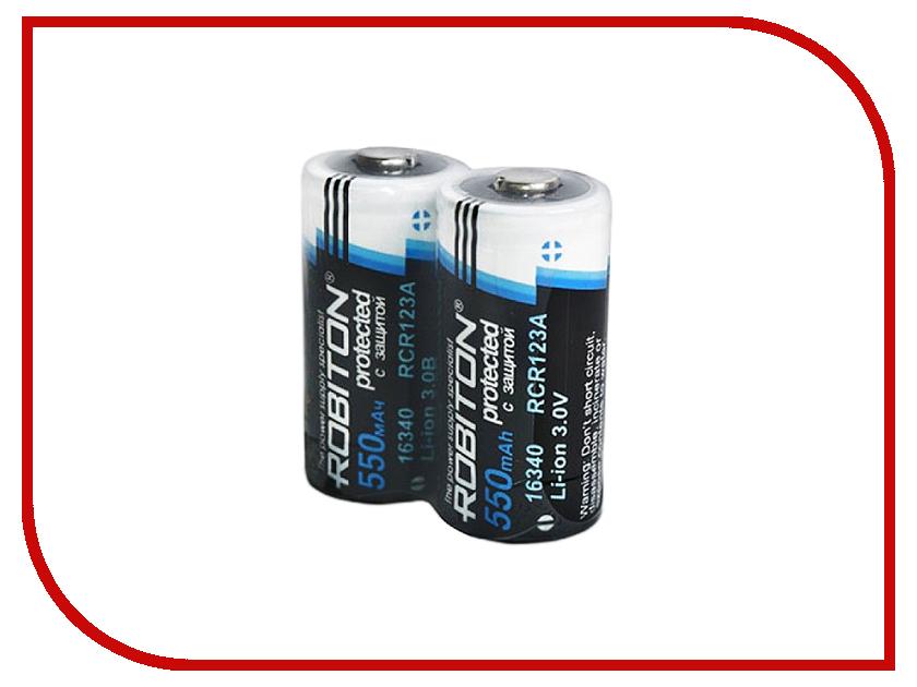 Аккумулятор 16340 - Robiton Li16340/3.0 550 mAh с защитой 12649 BL2<br>