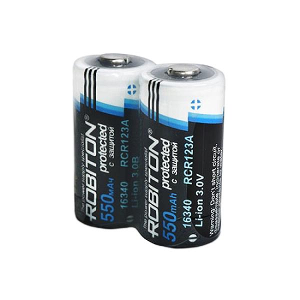 Аккумулятор 16340 - Robiton Li16340/3.0 550 mAh с защитой 12649 BL2