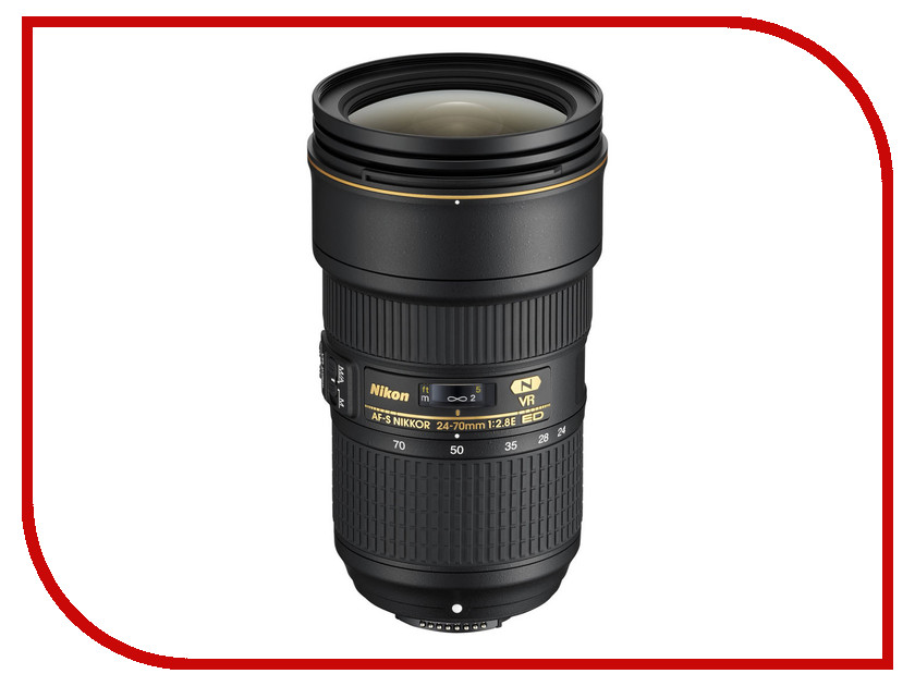 Объектив Nikon Nikkor AF-S 24-70 mm F/2.8E ED VR new and original for niko lens af s zoom nikkor ed 24 70mm f 2 8g if 24 70 focus fixed ring unit 1c999 535