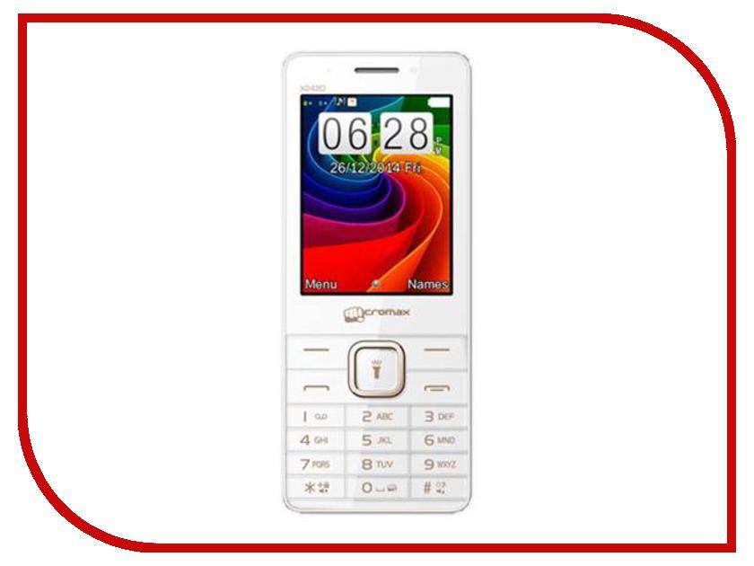 Сотовый телефон Micromax X2420 White Champagne