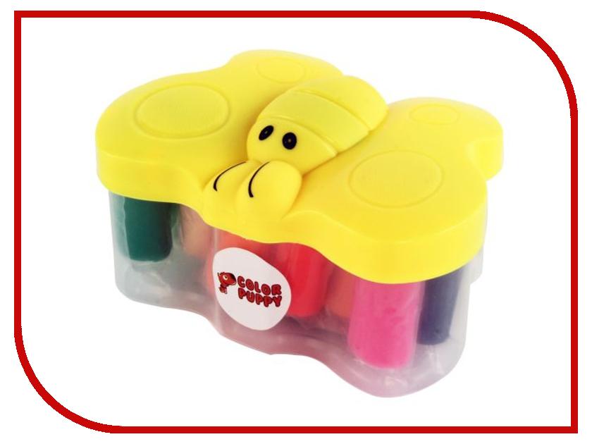 Набор для лепки Color Puppy Тесто для лепки 14 цветов 210г 63933 color puppy тесто для лепки 26 цветов 442г формы ролик