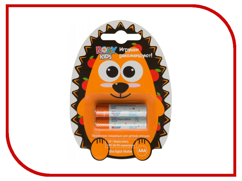 Батарейка ААА - Roxy-Kids 1.5V R-LR03-2<br>