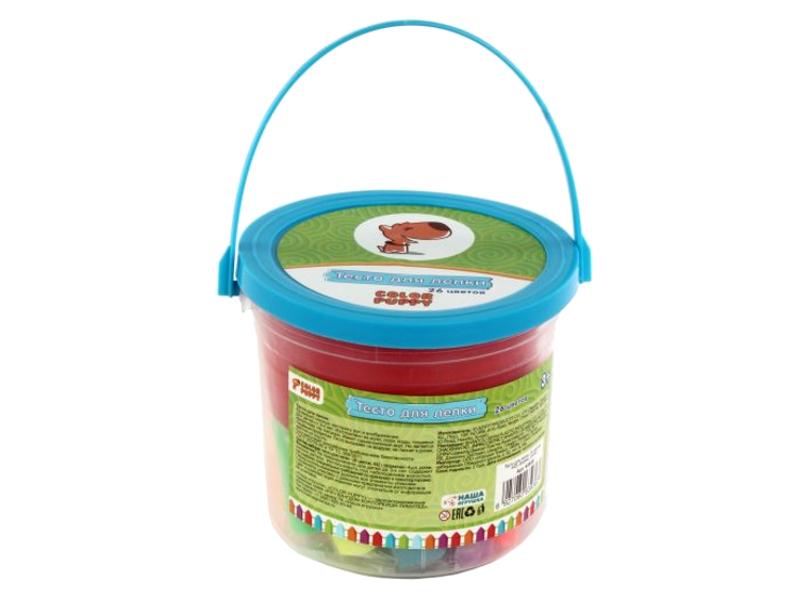 Набор для лепки Color Puppy 26 цветов 442г 63936 цена и фото