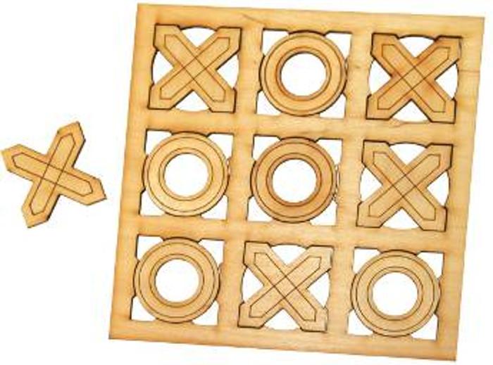 Крестики нолики из дерева