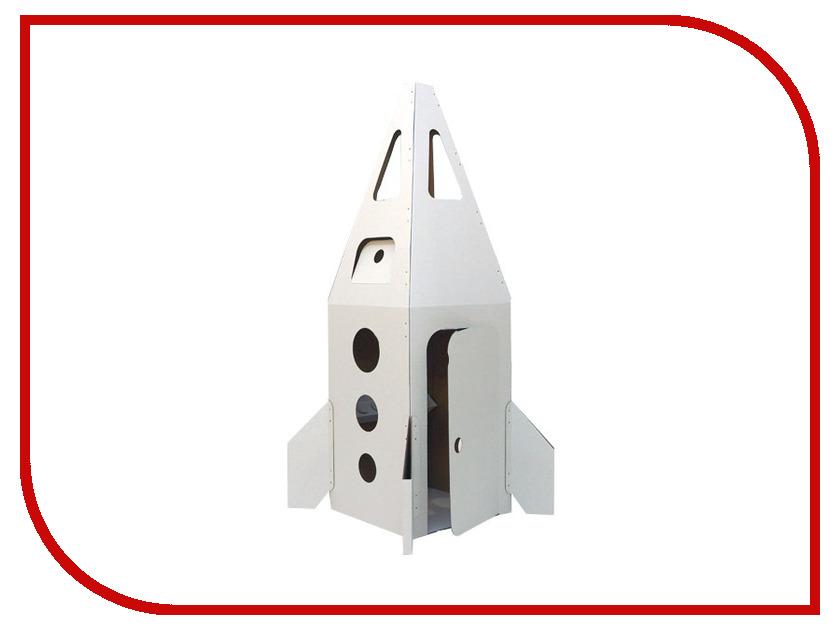 Игрушка для активного отдыха Домик Картонный папа Ракета на Марс White