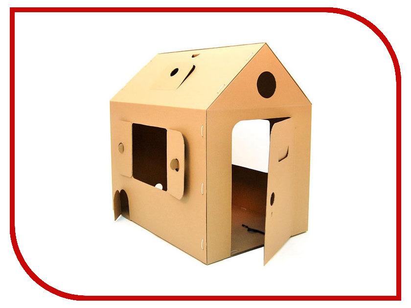 Игрушка Домик Картонный папа Мой первый дом Brown 4041К игрушка электронная развивающая мой первый ноутбук
