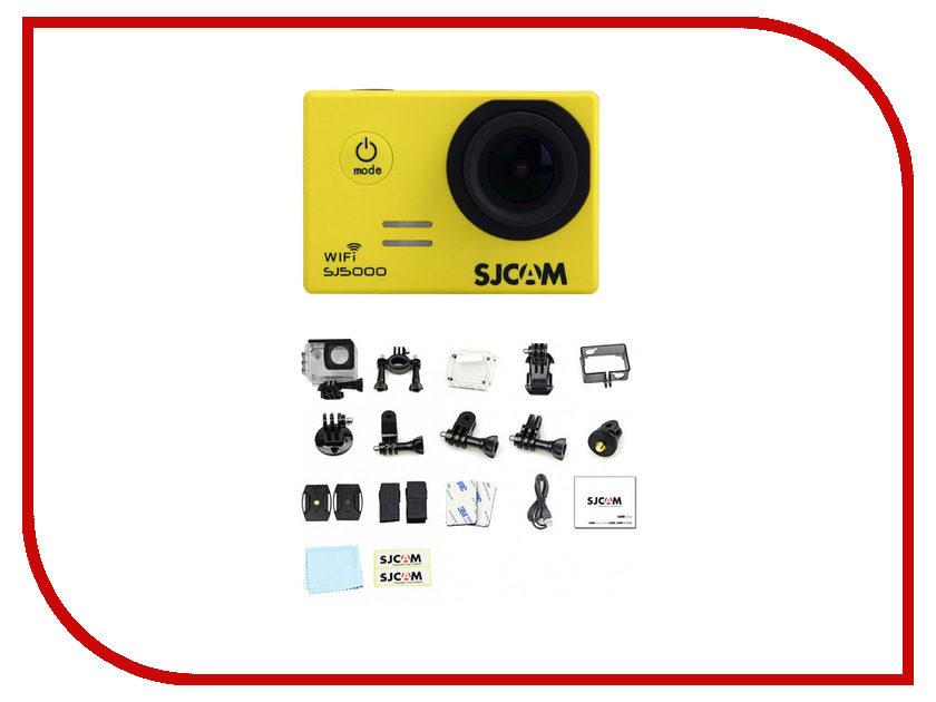 Экшн-камера SJCAM SJ5000 WiFi Yellow sjcam sj5000 plus black экшн камера