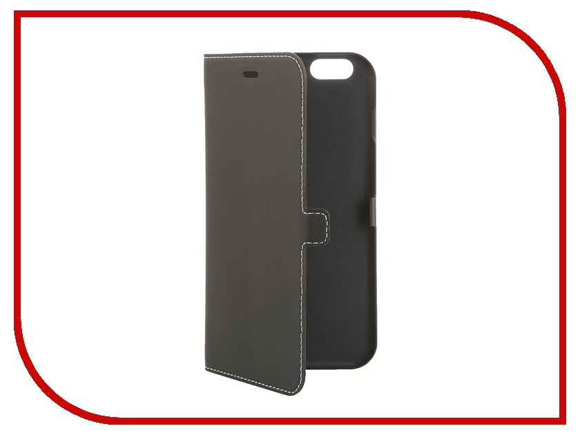 Аксессуар Чехол iPhone 6 Plus Muvit Smooth Slim Folio Case Black MUSLI0563 muvit muvit smooth slim folio для iphone 6 plus 6s plus