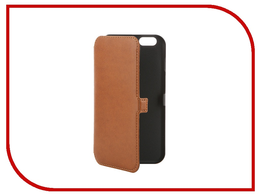 Аксессуар Чехол Muvit Slim Folio Case для iPhone 6 Plus Brown MUSLI0547 muvit muvit smooth slim folio для iphone 6 plus 6s plus