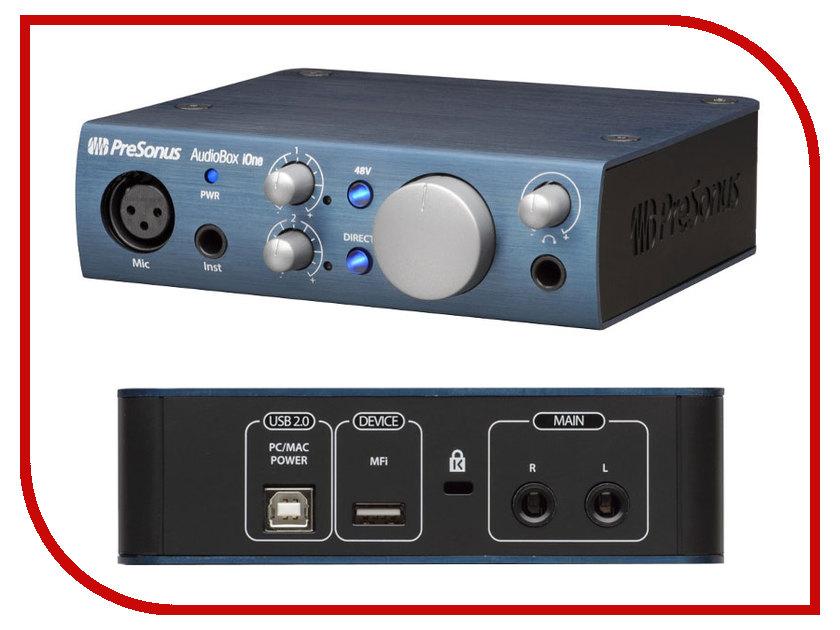 Аудиоинтерфейс PreSonus AudioBox iOne аудио интерфейс presonus audiobox 44vsl ubs 2 0