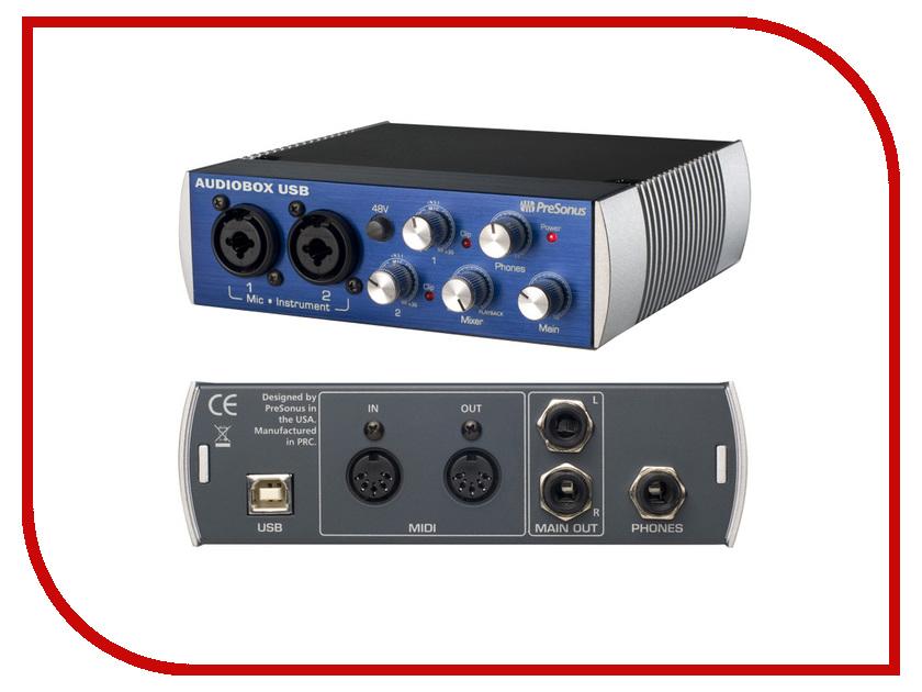 Аудиоинтерфейс PreSonus AudioBox Stereo аудио интерфейс presonus audiobox 44vsl ubs 2 0