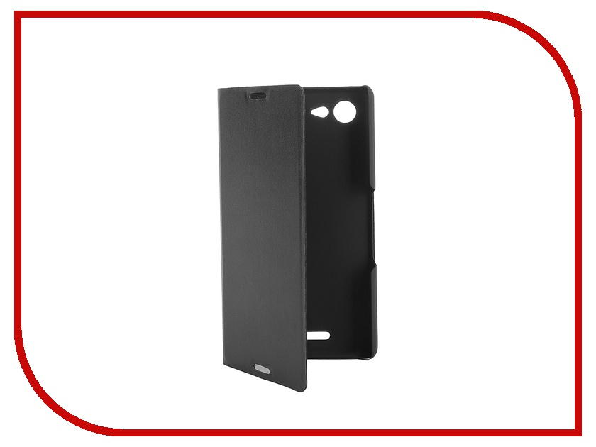Аксессуар Чехол-книжка Sony Xperia E3 BROSCO PU Black E3-BOOK-02-BLACK<br>