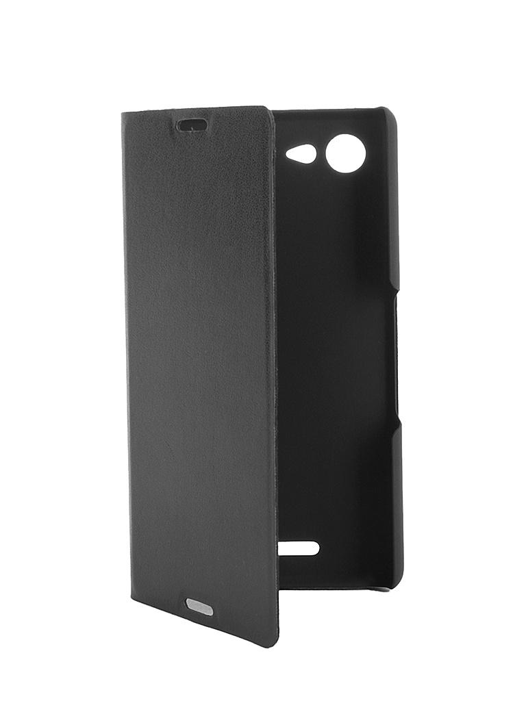 Аксессуар Чехол-книжка Sony Xperia E3 BROSCO PU Black E3-BOOK-02-BLACK<br>