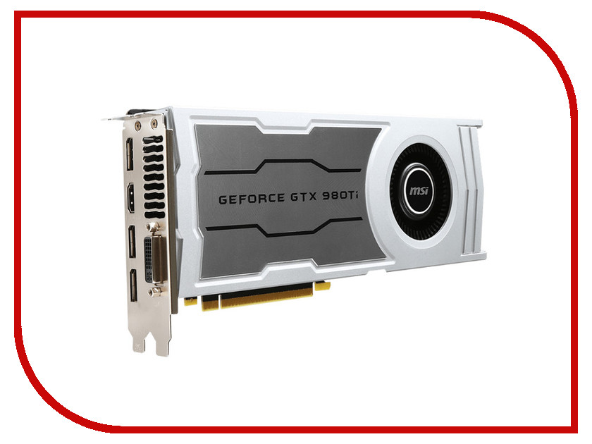 Видеокарта MSI GeForce GTX 980 Ti 1000Mhz PCI-E 3.0 6144Mb 7010Mhz 384 bit DVI HDMI HDCP V323-03S