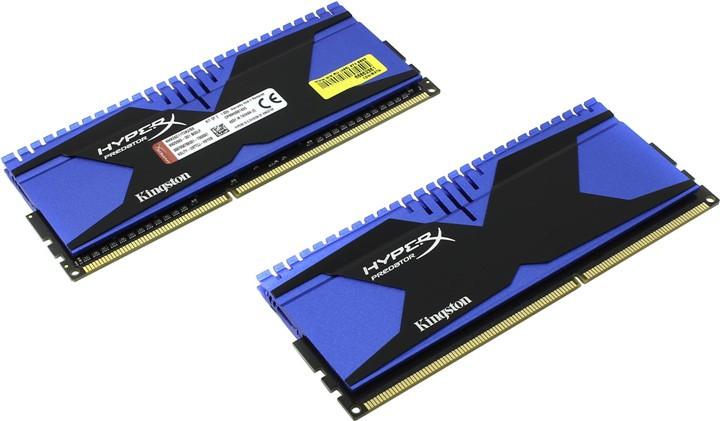 Модуль памяти Kingston HyperX Predator PC3-22400 DIMM DDR3 2800MHz CL12 - 8Gb KIT (2x4Gb) HX328C12T2K2/8<br>