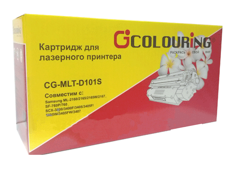 Картридж Colouring CG-MLT-D101S для Samsung ML2161/2156/2160W/2165W/2167/2168W SCX3400/3405/3407/3400F/3405F/3400FW/3405W/F760P/760 1500 копий