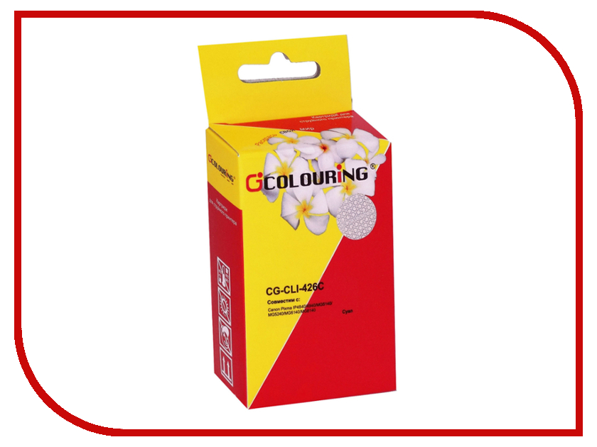 Картридж Colouring CG-CLI-426C Cyan для Canon IP4840/MG5140/MG5240/MG6140/MG8140 картридж colouring cg cli 521bk black для canon ip3600 ip4600 mp540 mp620 mp630 mp980
